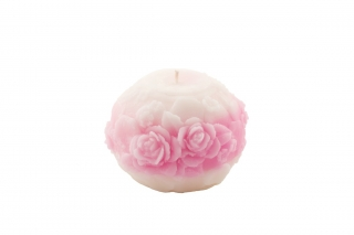 Scented candle Rose Sphere with ornaments