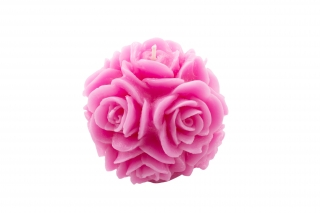 Scented candle Rose; spherical form